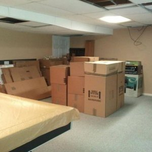 Basement:  Unpack, Declutter, Put Away, & Clean - Mid/Front Area, side angle